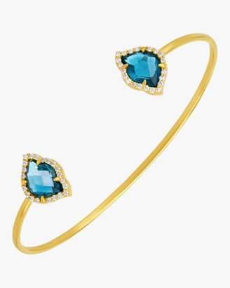 Amrapali Legend Nalika Lotus Topaz Cuff Bracelet
