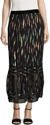 Anna Sui Women's Reigning Rainbow Midi Skirt