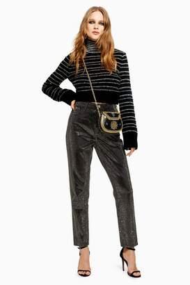 Topshop Womens Pinstud Mom Jeans