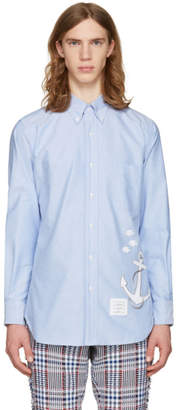 Thom Browne Blue Anchor and Fish Classic Shirt