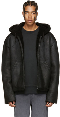 YEEZY Black Short Shearling Jacket $1,500 thestylecure.com