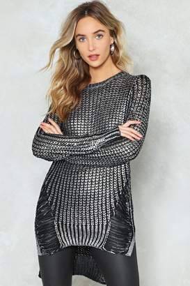 Nasty Gal The Hole Works Metallic Sweater
