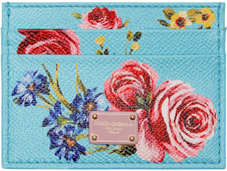Dolce & Gabbana Blue Floral Card Holder $235 thestylecure.com