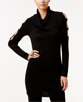 INC International Concepts Cold-Shoulder Tunic Sweater, Only at Macy's $89.50 thestylecure.com