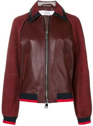 Victoria Beckham Victoria contrast panel bomber jacket