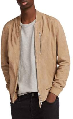 AllSaints Kemble Suede Slim Fit Bomber Jacket