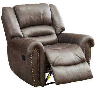 BONZY Manual Stretched Recliner Chair Micro Fiber Cover Living Room Lounge Chair - Smoke Gray