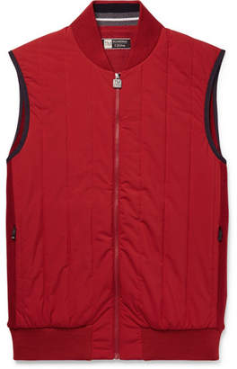 Ermenegildo Zegna Quilted Wool and Shell Gilet - Men - Red