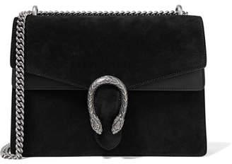 Gucci Dionysus Medium Suede And Leather Shoulder Bag - Black