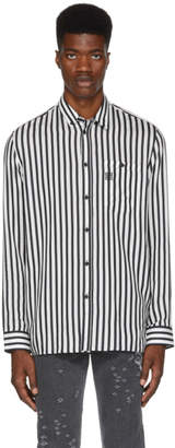 Givenchy White and Black Stripe 4G Shirt