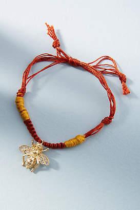 Anthropologie Woven Charm Bracelet