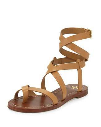 Tory Burch Patos Crisscross Leather Sandal, Blond $225 thestylecure.com