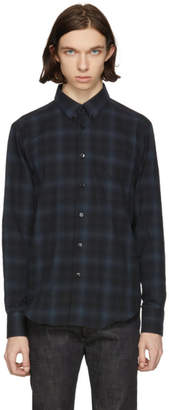 Naked and Famous Denim Black and Grey Shadow Plaid Shirt