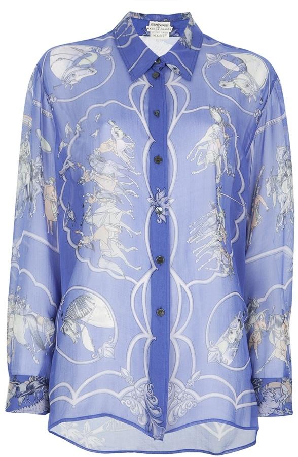 Hermes Vintage print blouse