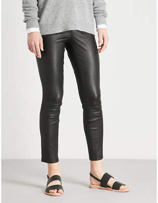Theory Skinny high-rise leather trousers