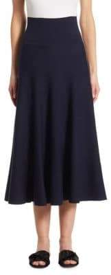The Row Alessia Wool Midi Skirt