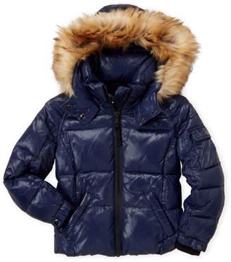 51e56223c S13 Girls 4-6x) Mogul Faux Fur Trim Hooded Coat