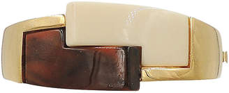One Kings Lane Vintage 1970s Trifari Brown & Ivory Lucite Cuff - Carrie's Couture