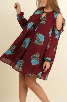 Umgee USA Floral A-Line Dress
