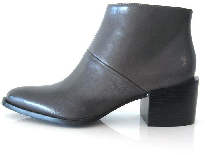 Nine West Nine West Grey Leather Bootie
