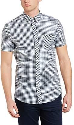 Ben Sherman Men's MA10137 2 Finger, Heritage House Check Regular Fit Button Down Short Sleeve Casual Shirt