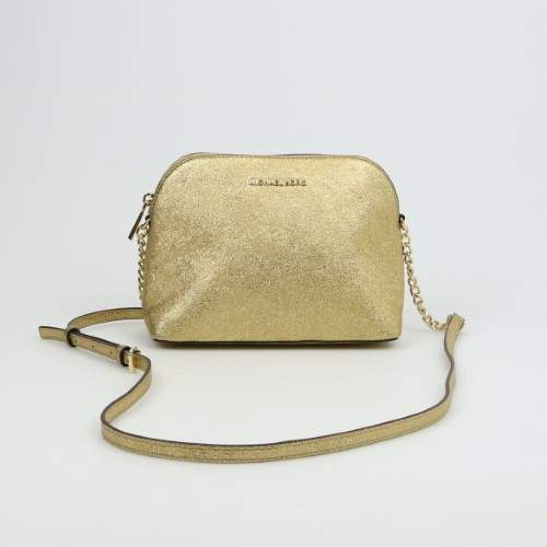 Michael Kors Large Dome Crossbody Gold - GOLD - STYLE