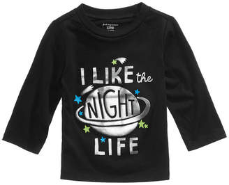 First Impressions Night Life-Print Cotton T-Shirt, Baby Boys, Created for Macy's