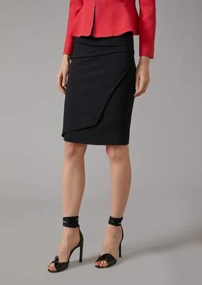 Giorgio Armani Pencil Skirt With Pleating