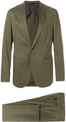 notched lapel two-piece suit