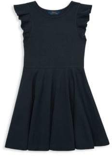Ralph Lauren Girl's Ruffle-Trimmed Dress