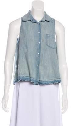 Amo Sleeveless Button-Up Top