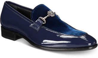 Roberto Cavalli Men's Velvet & Patent Moc-Toe Bit Loafers Men's Shoes