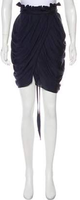3.1 Phillip Lim Ruched Tulip Skirt Navy Ruched Tulip Skirt