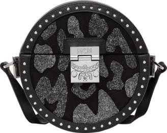 MCM Berlin Tambourine Crossbody In Leopard Crystal