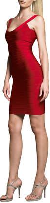 Herve Leger Scoop-Neck Bandage Dress