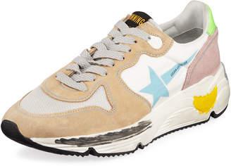 Golden Goose Running Sole Mixed Media Sneakers
