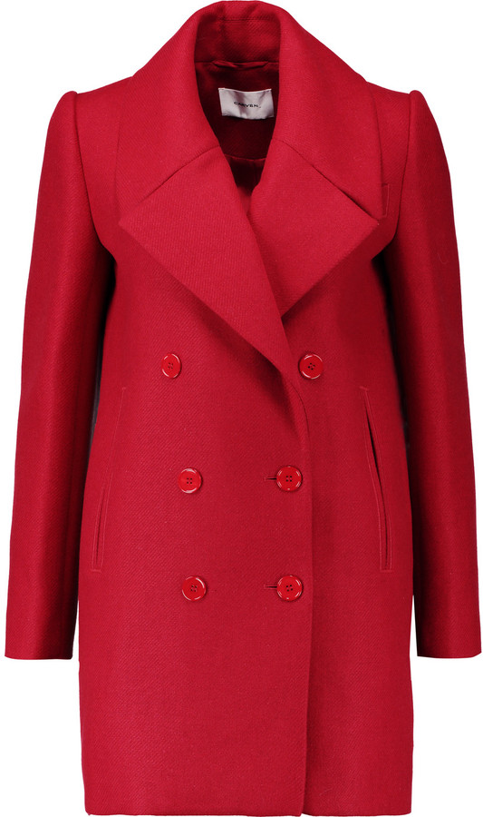 Carven Carven Double-breasted wool-blend twill coat