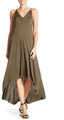 Splendid V-Neck Hi-Lo Maxi Dress