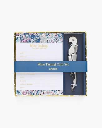 Floral Lace-Print Wine Tasting Card Set