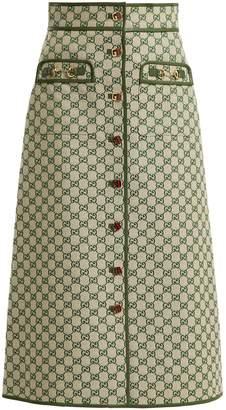 Gucci GG logo cotton-blend skirt