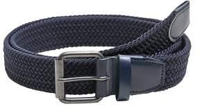 Mango Man MANGO MAN Leather-appliquA braided belt