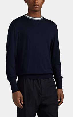 Eleventy Men's Wool Crewneck Sweater - Navy