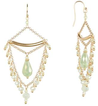 Chan Luu Beaded Chain Chandelier Earrings