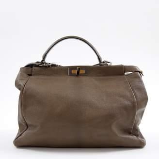 Fendi Peekaboo Camel Leather Handbag
