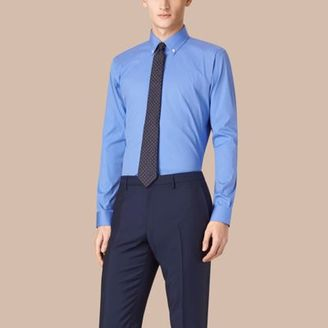 Burberry Modern Fit Button-down Collar Stretch Cotton Shirt $325 thestylecure.com
