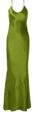 Nili Lotan Cami Silk-satin Maxi Dress - Leaf green