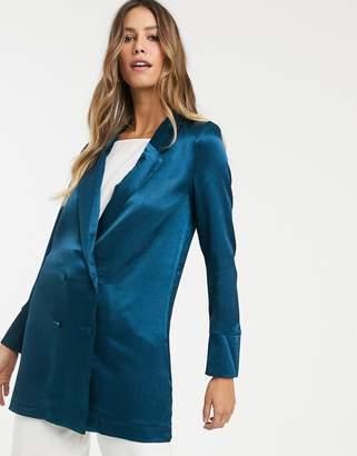 Vero Moda longline satin blazer
