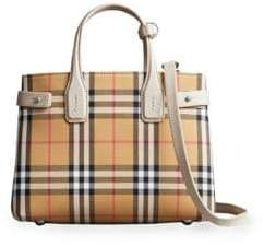 Burberry Small Banner Check Tote