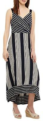 Phase Eight Maisie Striped Maxi Dress, Navy/Ivory