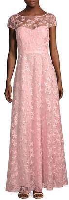 Karl Lagerfeld Paris Women's Floral Embroidered A-Line Gown